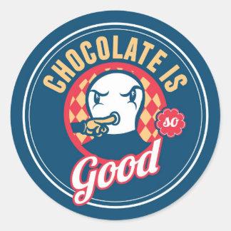 チョコレートはとてもよいです ラウンドシール