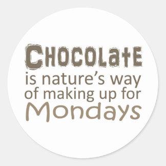 チョコレートは月曜日を補う性質の方法です ラウンドシール