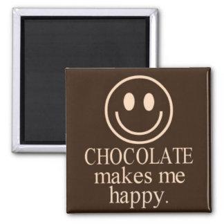 チョコレートは私に幸せな正方形の磁石をします マグネット
