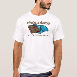 チョコレートは私の衣服の収縮におもしろいなワイシャツをしました Tシャツ