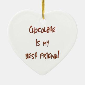 チョコレートは私の親友のBrです。 ハートのオーナメント セラミックオーナメント