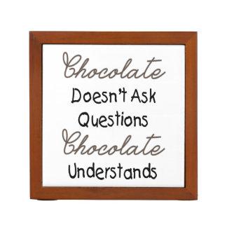 チョコレートは質問、おもしろいな引用文をしません ペンスタンド