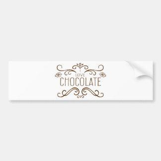 チョコレートを愛しますか。 バンパーステッカー