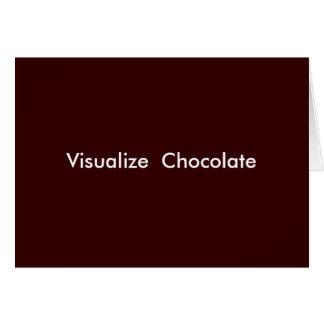チョコレートを視覚化して下さい カード