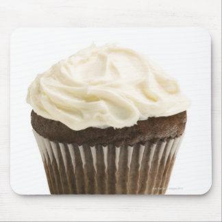 チョコレートアイシング、スタジオが付いているカップケーキは2つを撃ちました マウスパッド