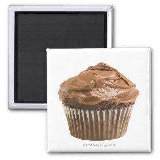 チョコレートアイシング、スタジオの打撃が付いているカップケーキ マグネット