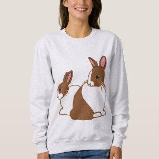 チョコレートオランダのウサギの女性のスエットシャツ スウェットシャツ
