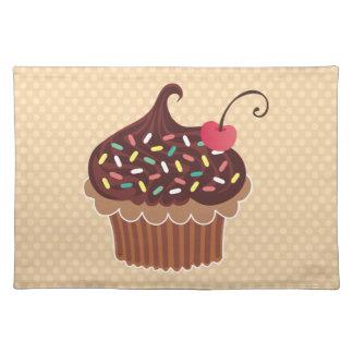 チョコレートカップケーキのランチョンマット ランチョンマット