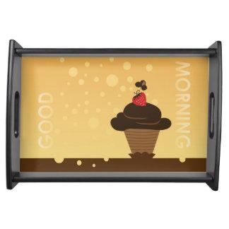 チョコレートカップケーキの絵 トレー