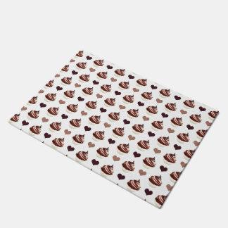 チョコレートカップケーキパターン ドアマット