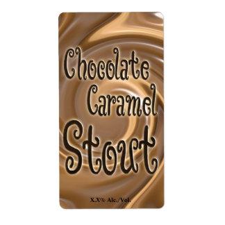 チョコレートカラメルのスタウト ラベル