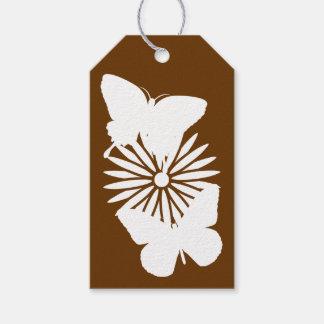 チョコレートギフトのラベルのデイジーそして蝶 ギフトタグ