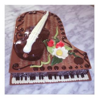チョコレートグランドピアノ フォトプリント