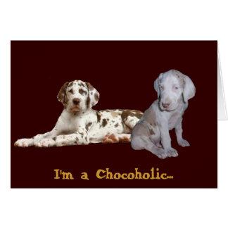 チョコレートグレートデーン カード