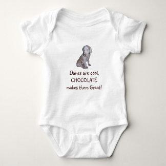 チョコレートグレートデーン ベビーボディスーツ