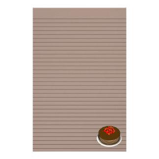 チョコレートケーキの文房具-任意ライン 便箋
