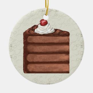 チョコレートケーキ- SRF セラミックオーナメント