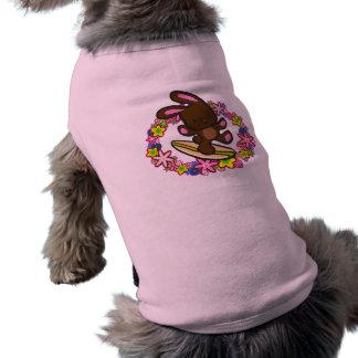 チョコレートサーフィンのバニーペット衣類 ペット服