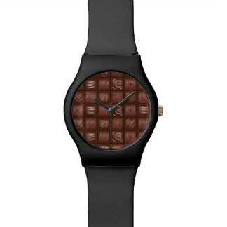 チョコレートタブレットのバーの腕時計 腕時計