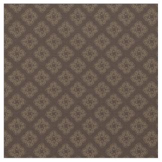 チョコレートダイヤモンド-焦茶パターン生地 ファブリック