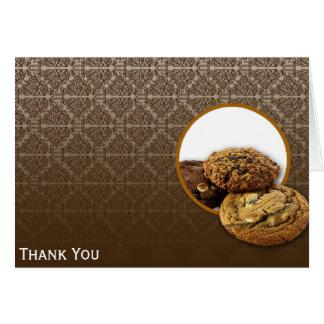 チョコレートダマスク織のデザート カード
