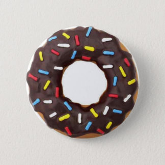 チョコレートドーナツはとの振りかけます 5.7CM 丸型バッジ