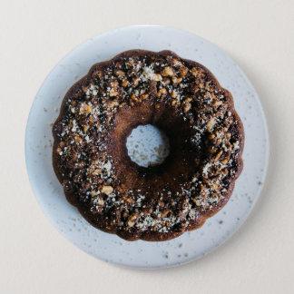 チョコレートドーナツボタン 10.2CM 丸型バッジ