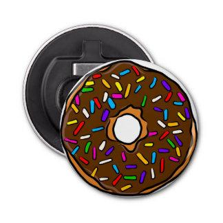 チョコレートドーナツ虹のカラフルは芸術をYum振りかけます 栓抜き
