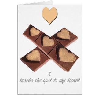 チョコレートハートのバレンタインデーカード カード