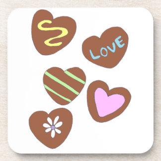 チョコレートハート コースター