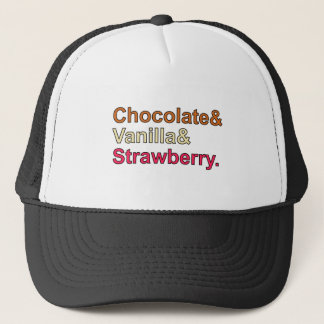 チョコレートバニラいちごのNeapolitanアイスクリーム キャップ