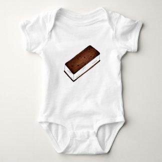 チョコレートバニラアイスクリームサンドイッチジャンクフード ベビーボディスーツ