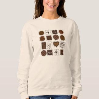 チョコレートバレンタインデーキャンデーのChocoholic箱 スウェットシャツ