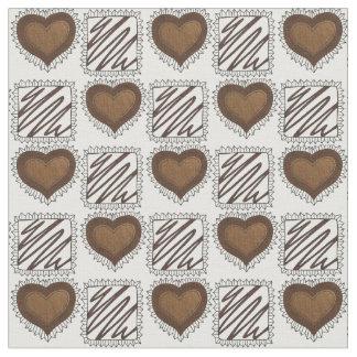 チョコレートバレンタインデーチョコレート生地の箱 ファブリック