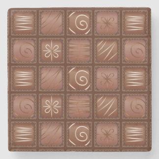 チョコレートパターン ストーンコースター