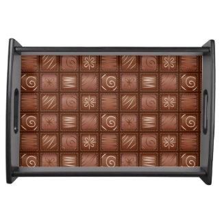 チョコレートパターン トレー