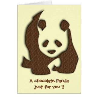 チョコレートパンダのブランクnotelet/カード カード