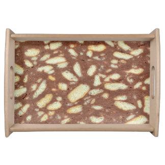 チョコレートビスケットのケーキの菓子の食糧質パターン トレー