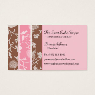 チョコレートピンクのバラの菓子のベーカリー 名刺