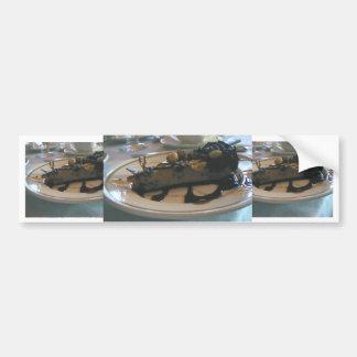 チョコレートピーナッツバターのケーキ バンパーステッカー
