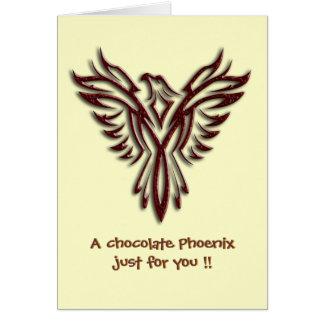 チョコレートフェニックス空白のなnotelet/カード カード