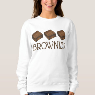 チョコレートブラウニーは販売のベーカリーの御馳走グルメを焼きます スウェットシャツ