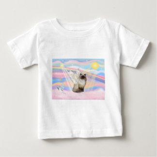 チョコレートポイントヒマラヤ猫の天使 ベビーTシャツ