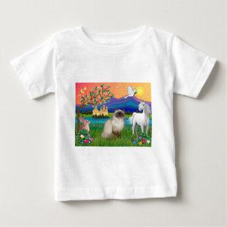 チョコレートポイントヒマラヤ猫-ファンタジーの土地 ベビーTシャツ