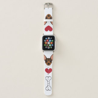 チョコレートミニチュア・ピンシャー最低Pinの時計バンド Apple Watchバンド