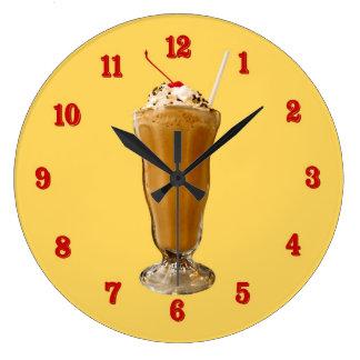 チョコレートミルクセーキ ラージ壁時計