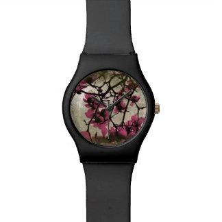 チョコレートラズベリーの花の腕時計 腕時計
