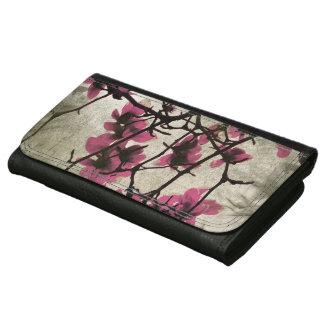 チョコレートラズベリーの花の財布