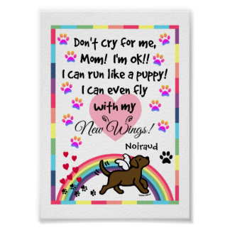 チョコレートラブラドールの小走りに走る記念のプリント ポスター