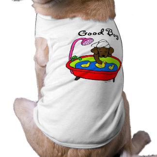 チョコレートラブラドール及びゴムアヒルの漫画 ペット服
